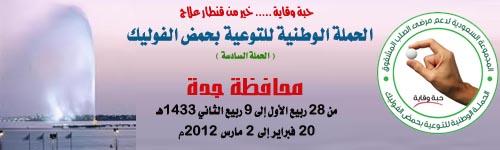 الحملة الوطنية السادسة للتوعية بحمض الفوليك - محافظة جدة - 20 فبراير إلى 2 مارس 2012م